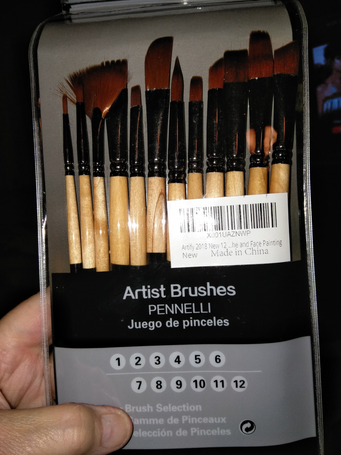 12 piece paint brush set