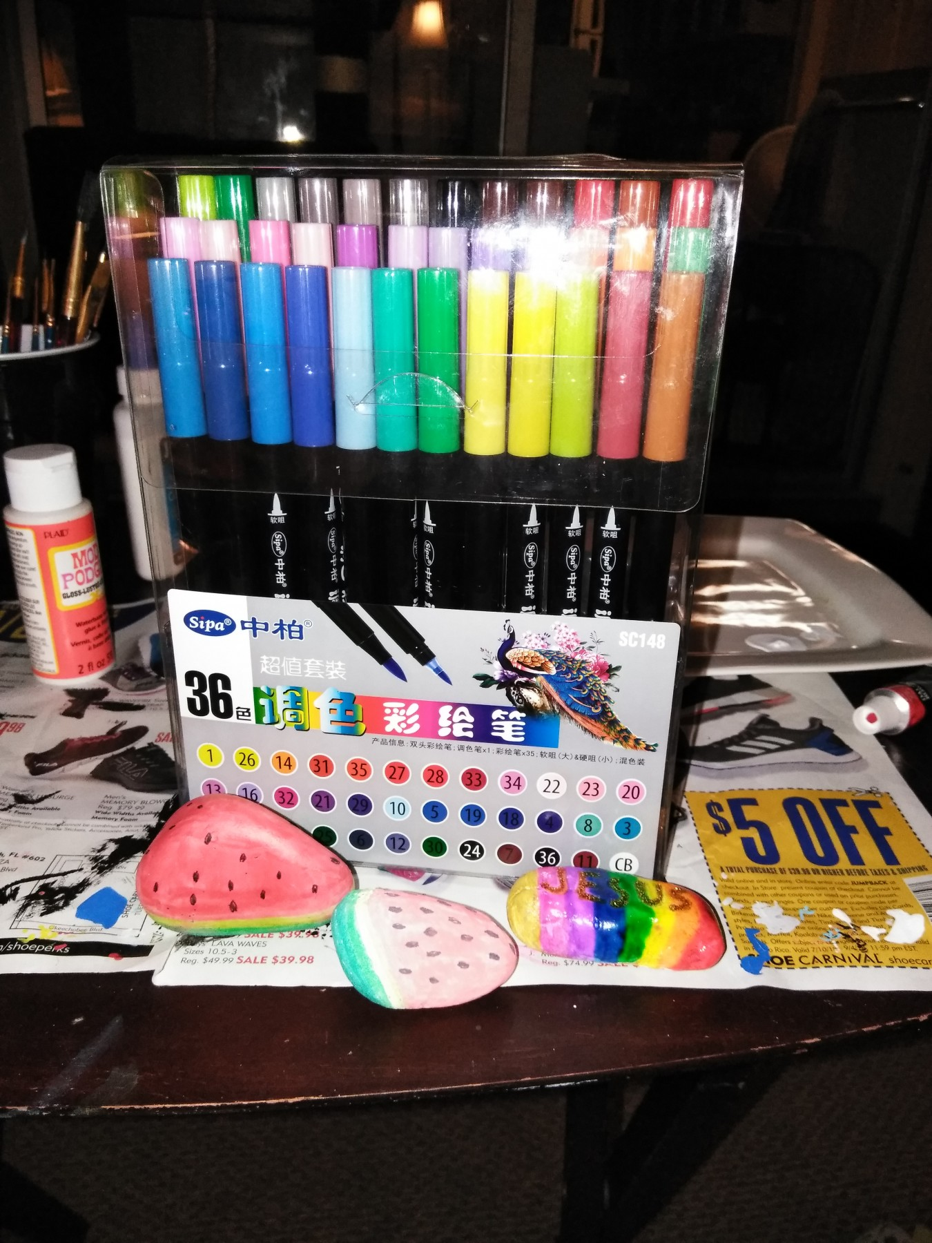 Dual tip watercolor art markers brush pen