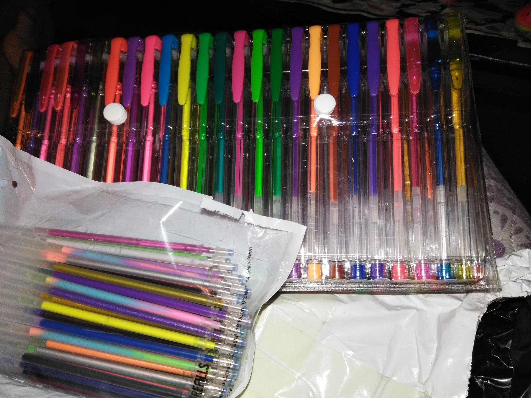 200 glitter pen set