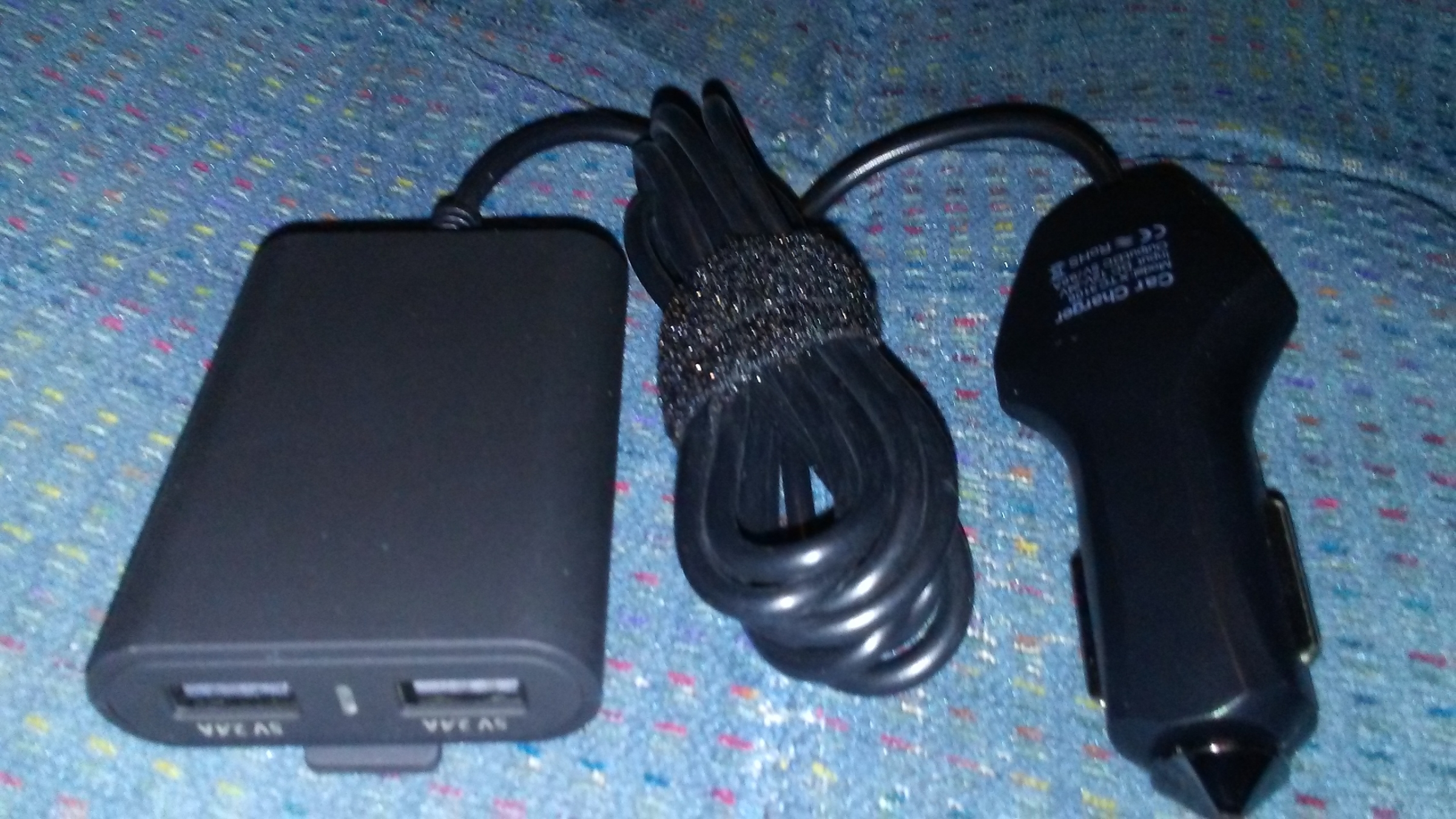 Nice Charger for Road Trips, Includes Front and Rear Seat Charging Ports