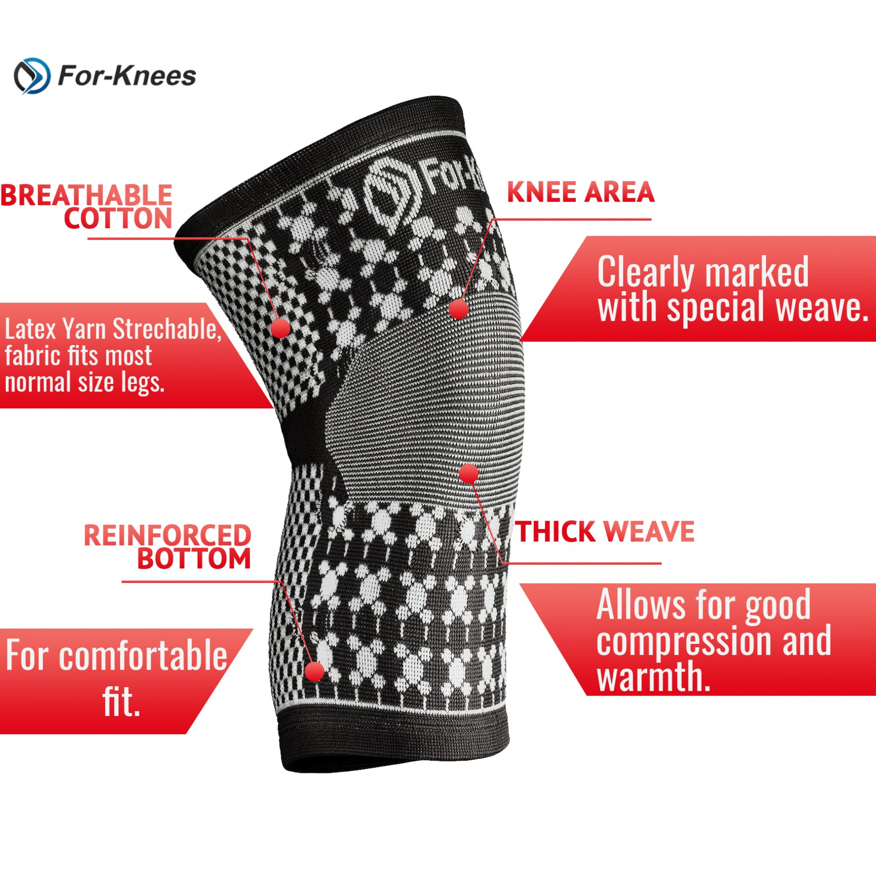 Great knee sleeve for sports, knee support and sore knees