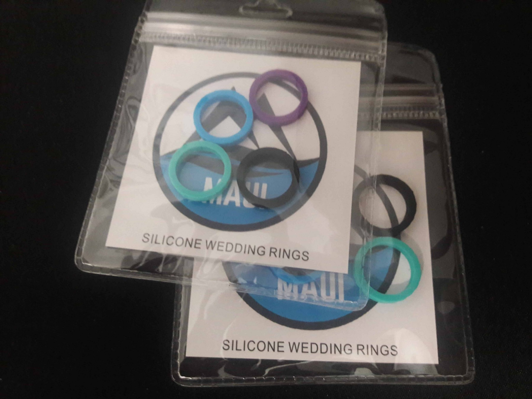 Maui Silicone rings are perfect for the gym.