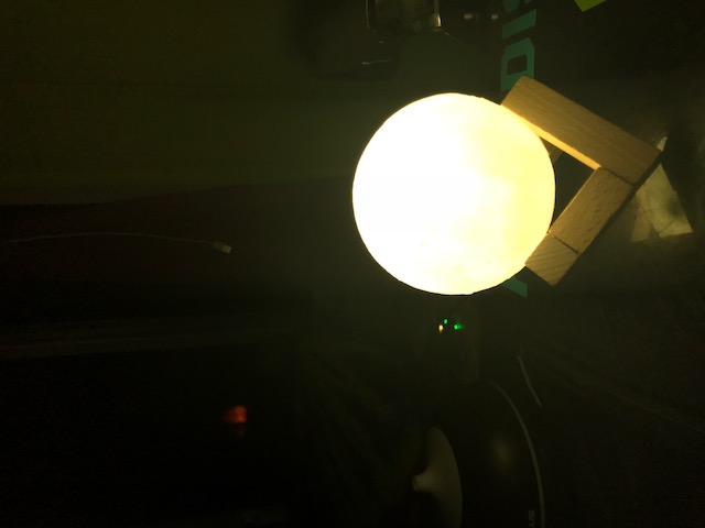 Very Bright and easy to use moon lamp for your desk .