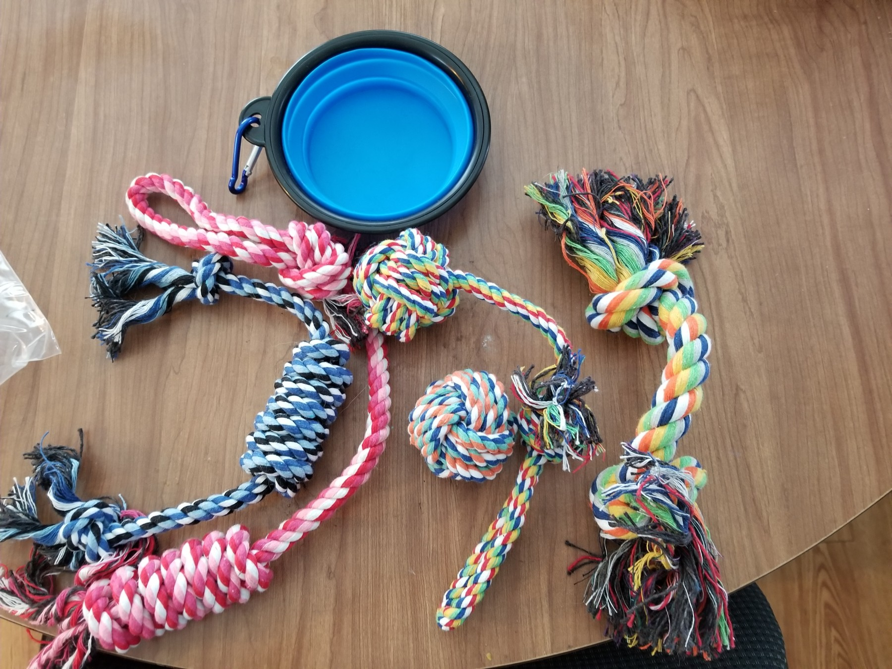 Dog Toys and Travel Water Bowl