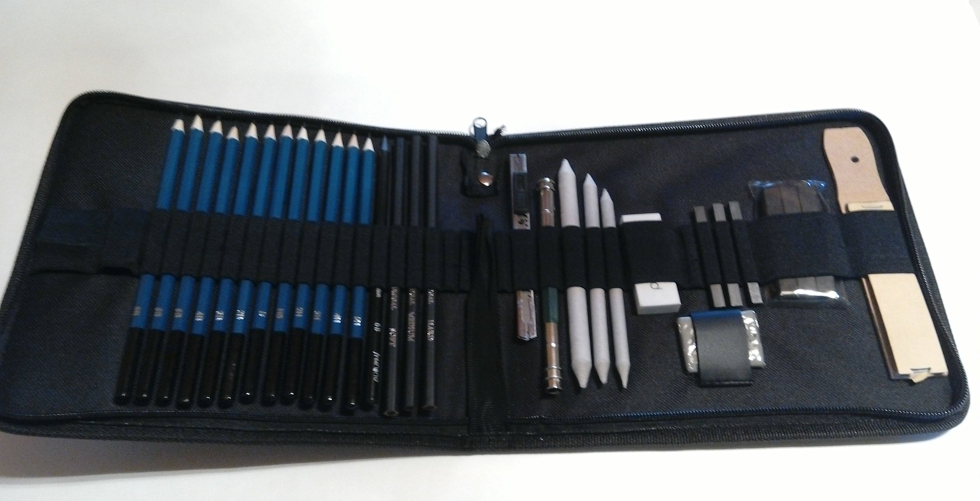 Everything needed to sketch and draw!