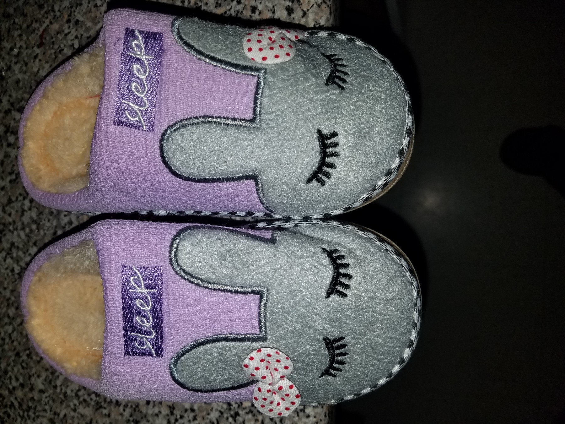 Good quality slippers, cute too!