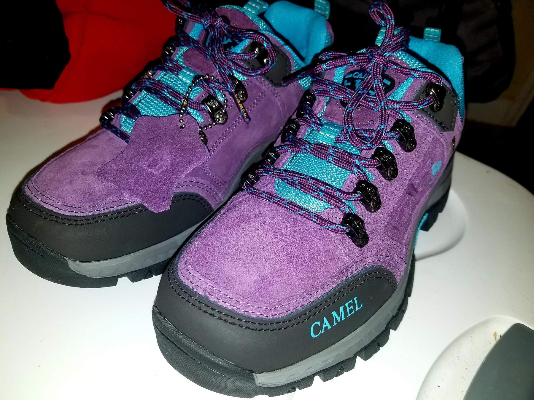 I'm impressed with these comfy,  hiking shoes!