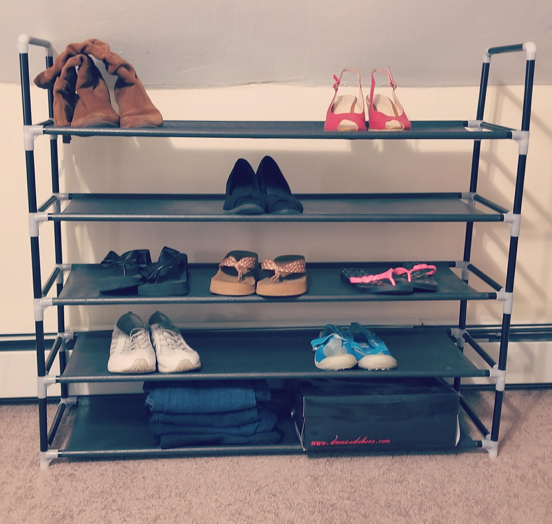 A shoe rack for a shoe guru!