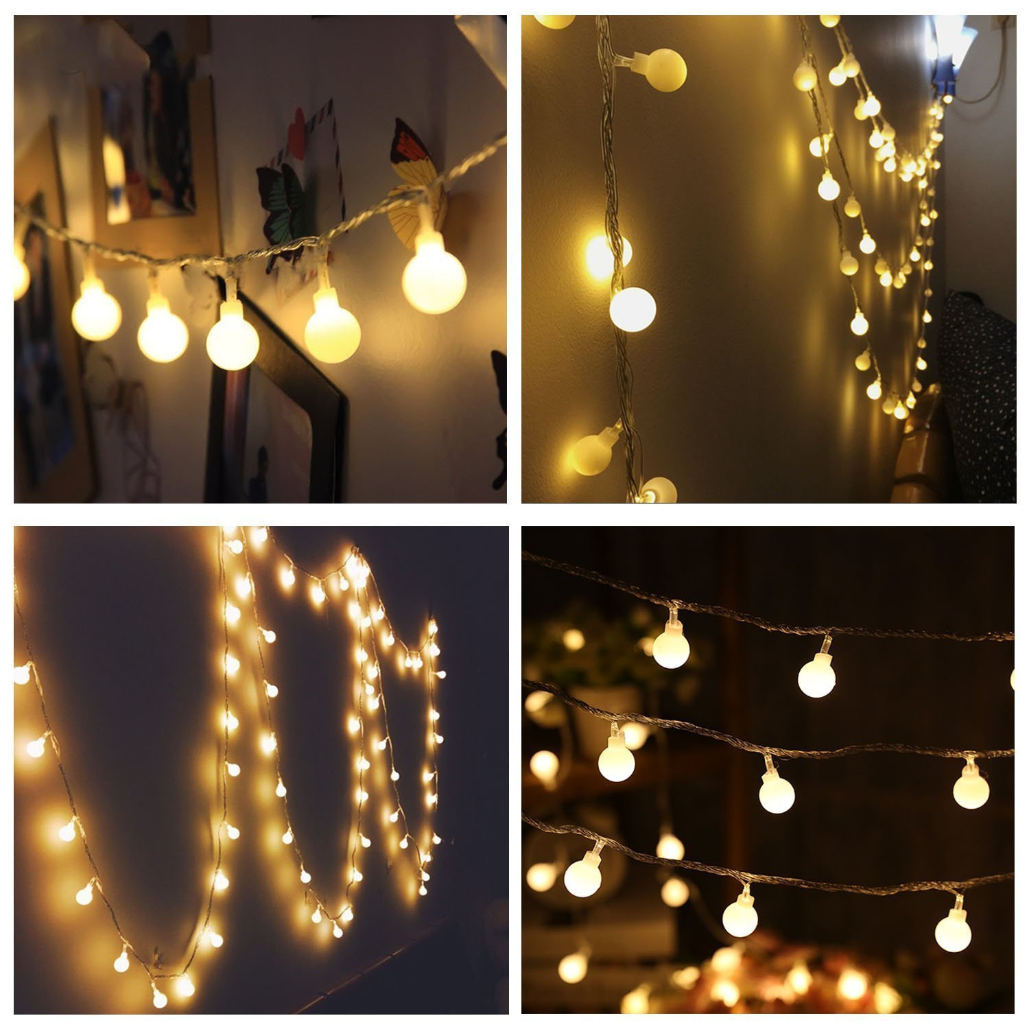 Light weight warm small globe lights simple yet elegant