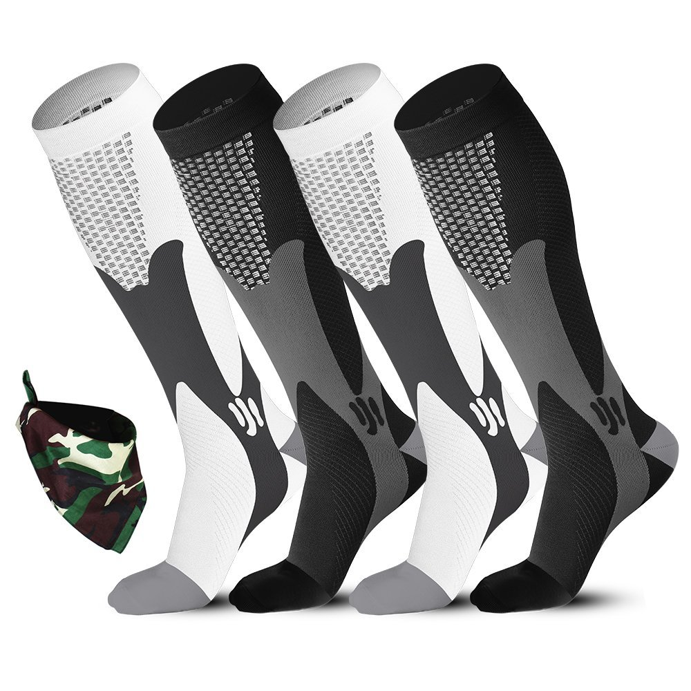 Great Price and comes with 2!  First try with compression socks for running