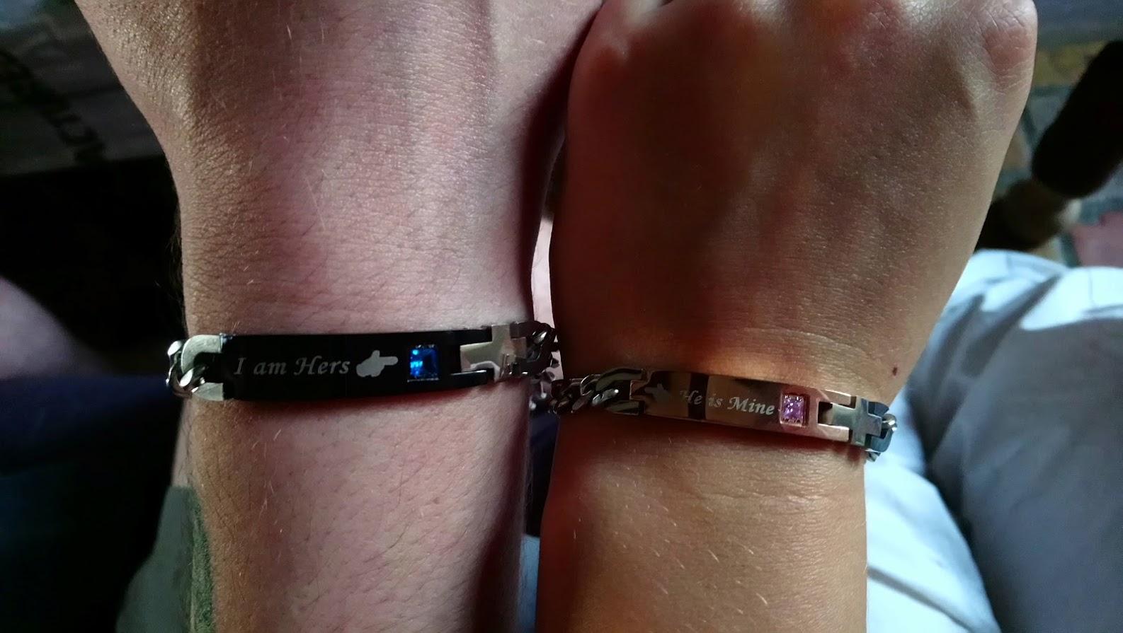 lot de 2 bracelets lui+elle