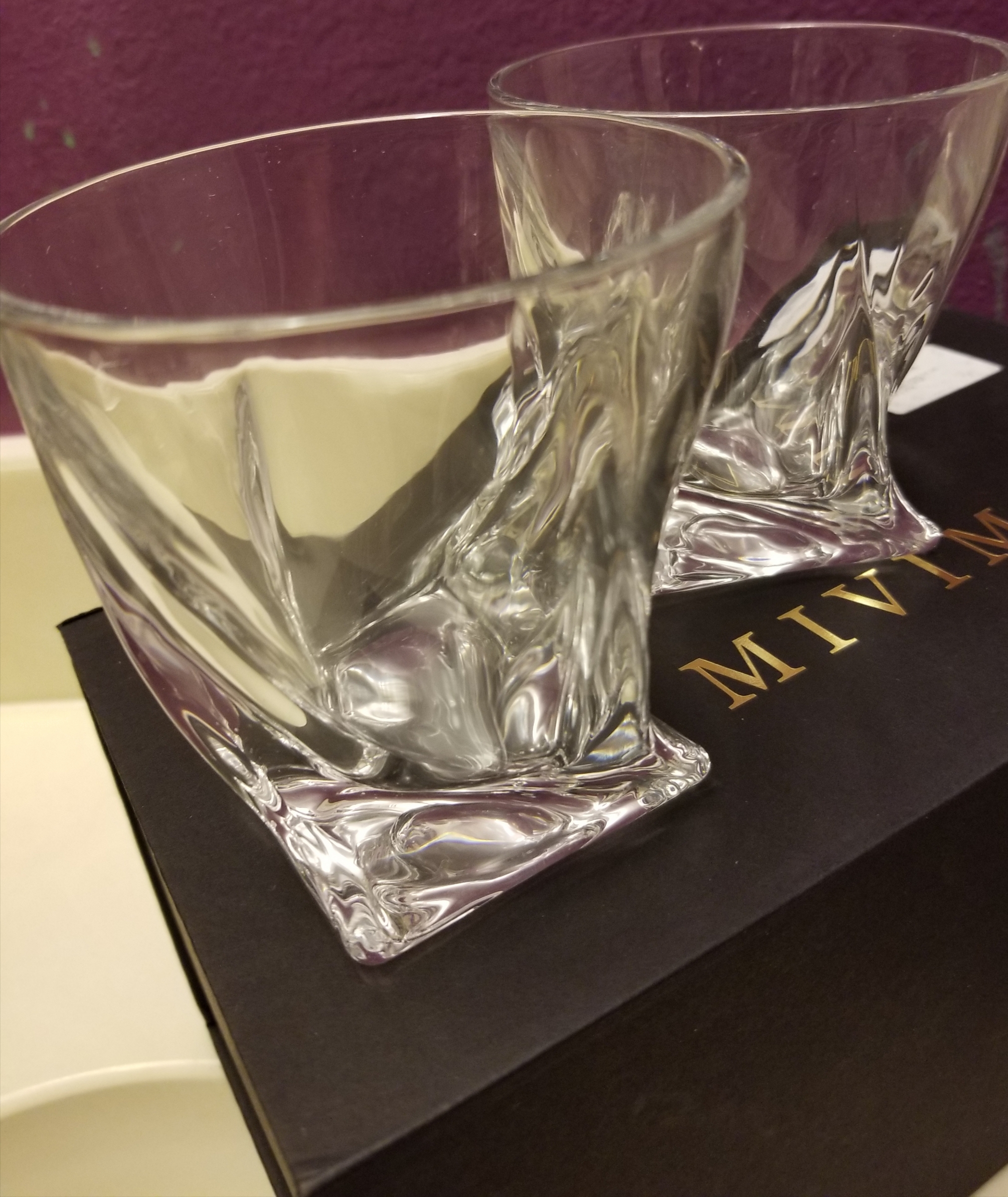 Whiskey Glasses With A Twist