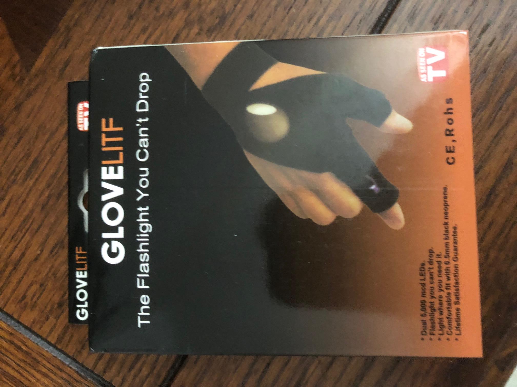 Fingerless LED Flashlight Gloves