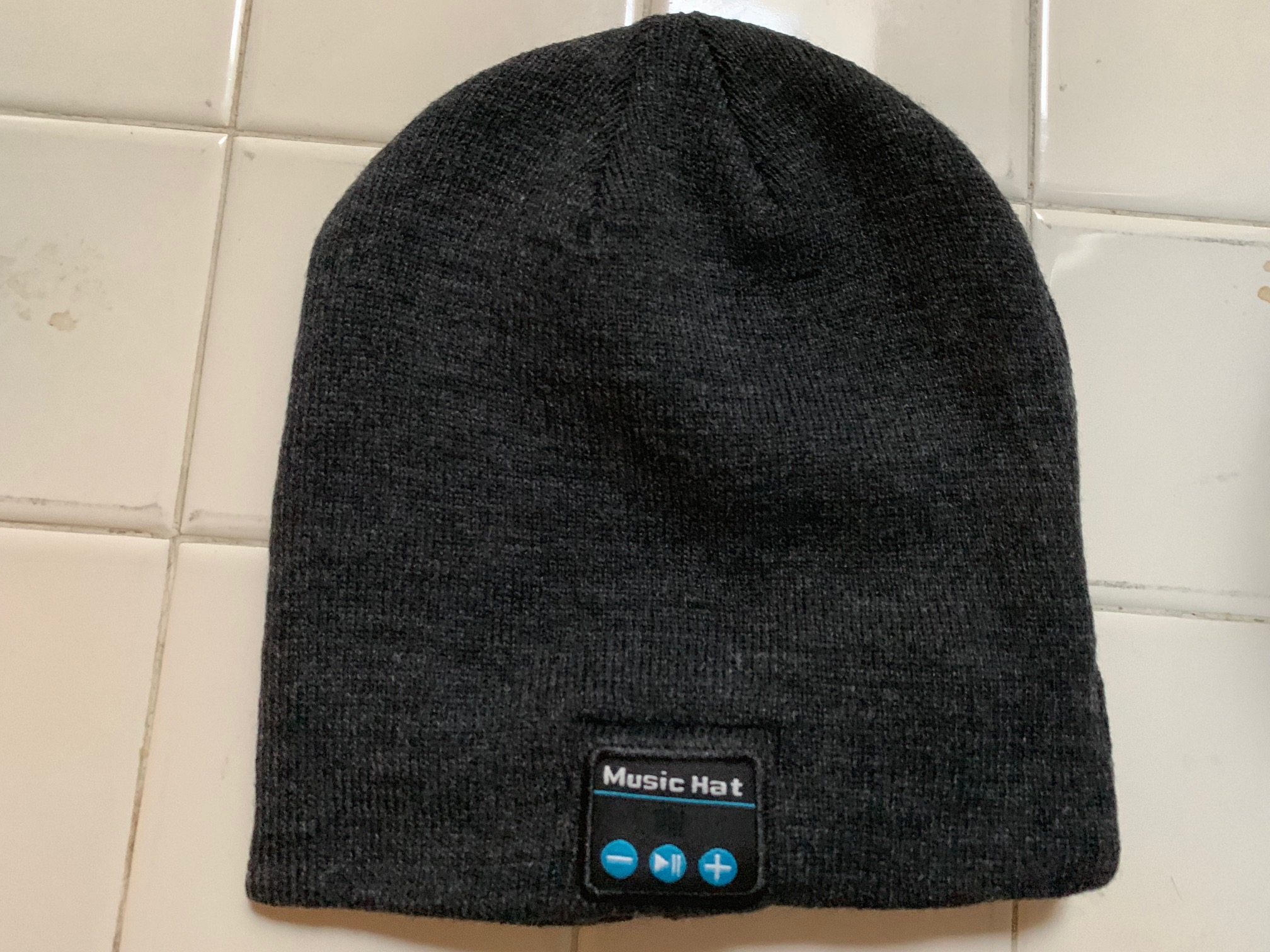 Grey Bluetooth Beanie