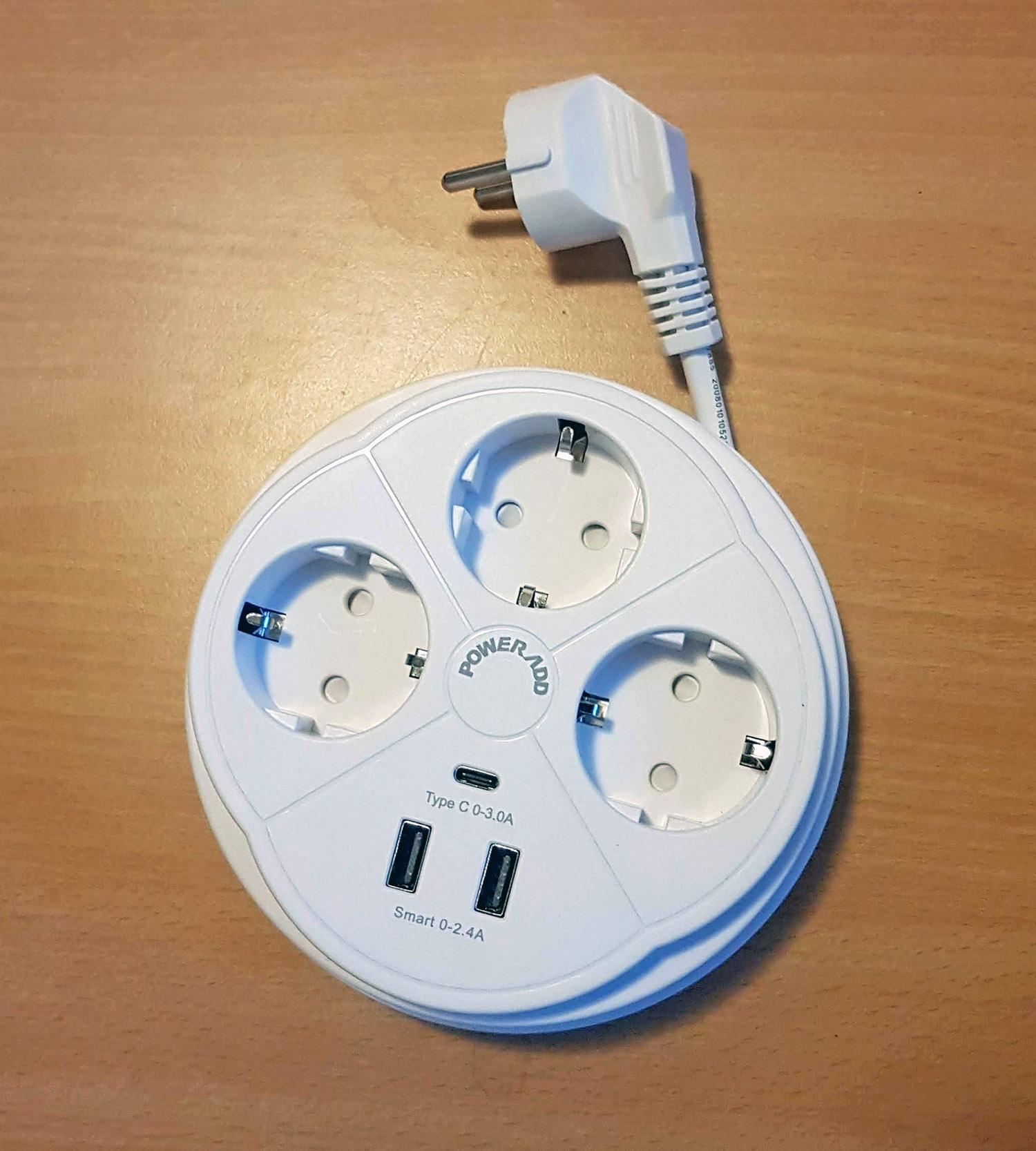 Multi prises avec chargeurs intégrés