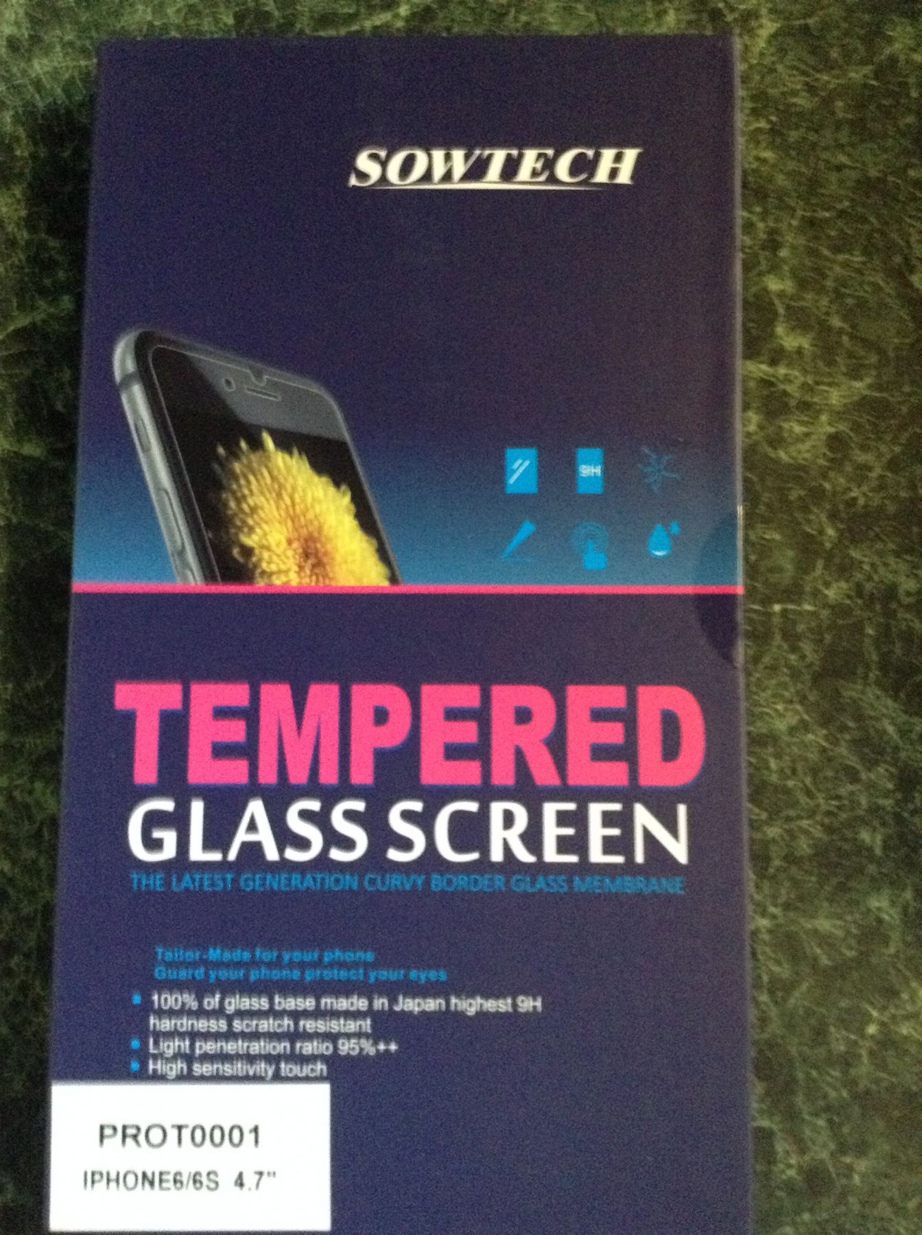 2 pack of tempered glass