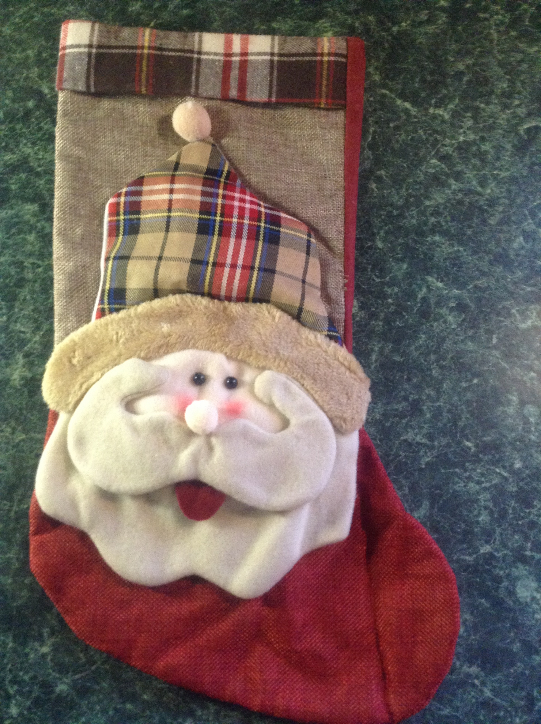 Santa face stocking