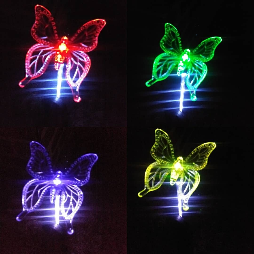 Solarmks LED butterfly stake light