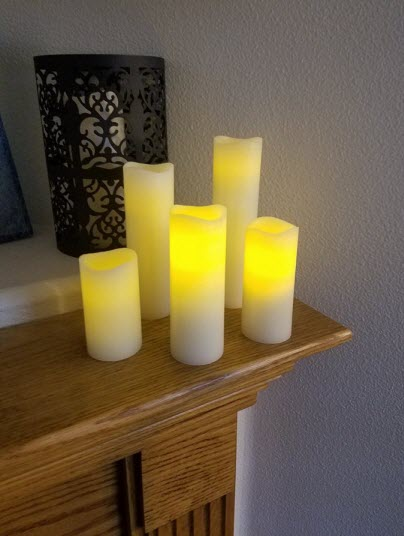 Beautiful quality candle set!  Real vanilla scent!