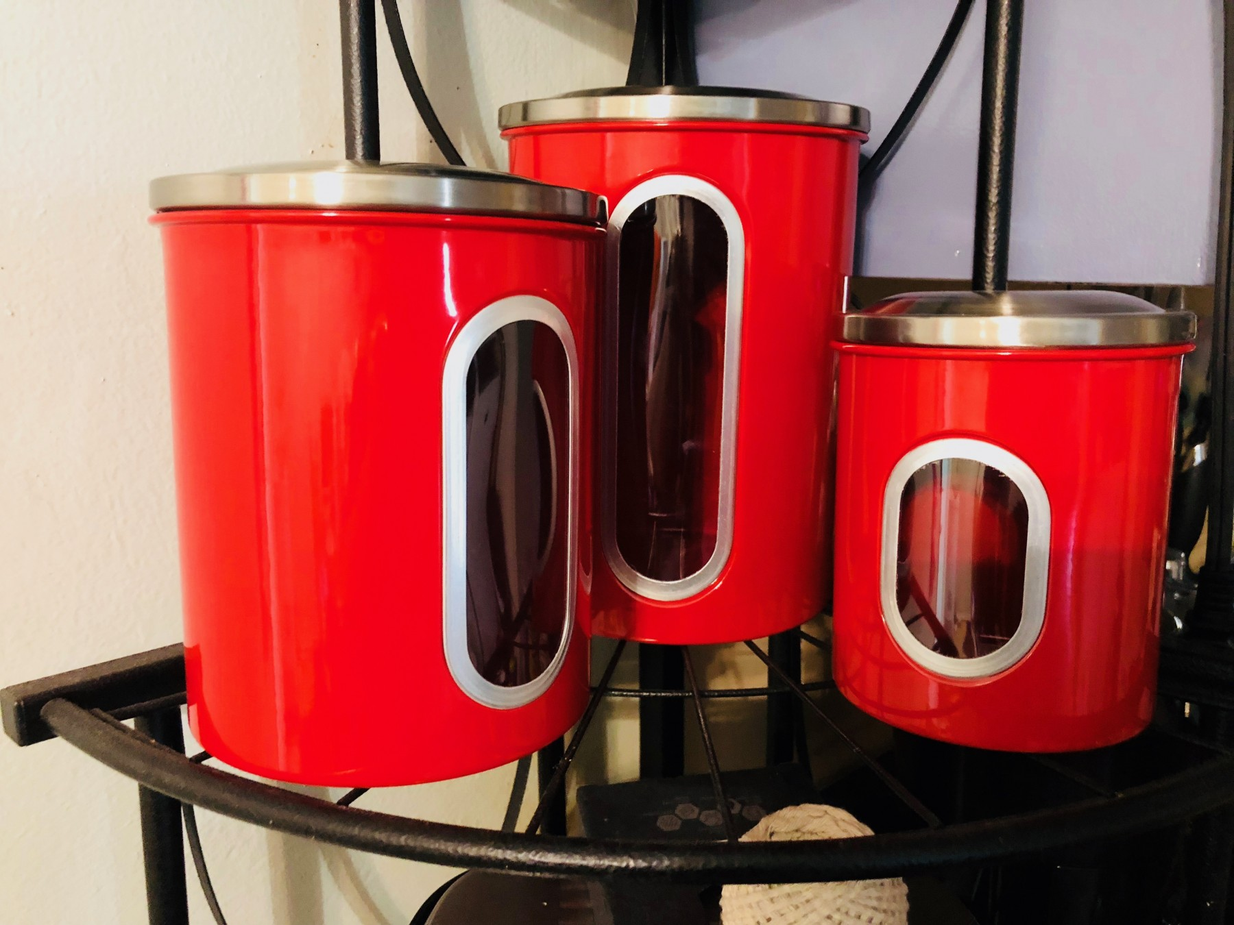 Red canisters!!!