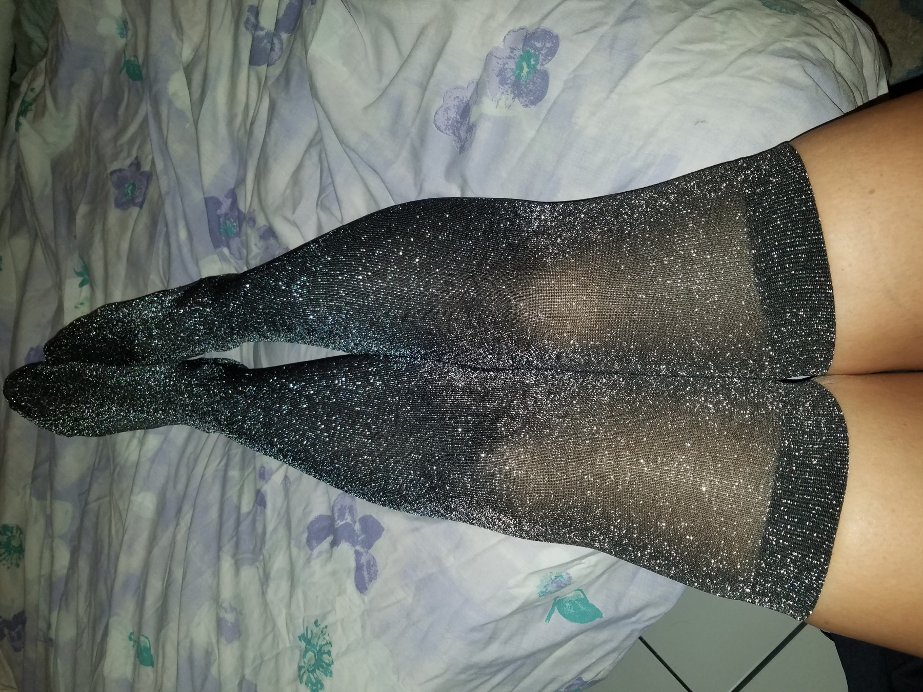 Thigh High Glitter Stockings