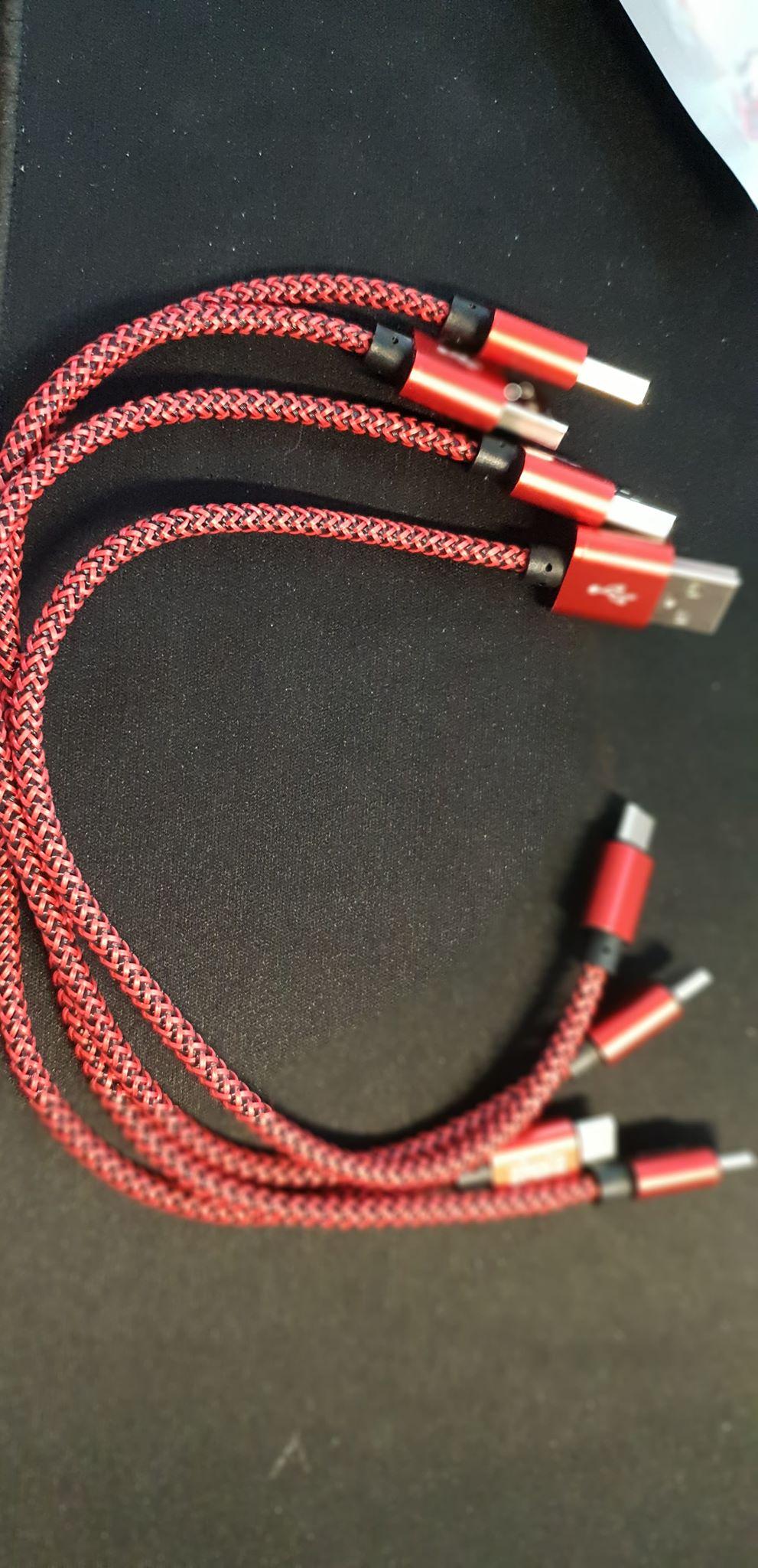 lot de 4 cables de 30 cm type C pour samsung S9