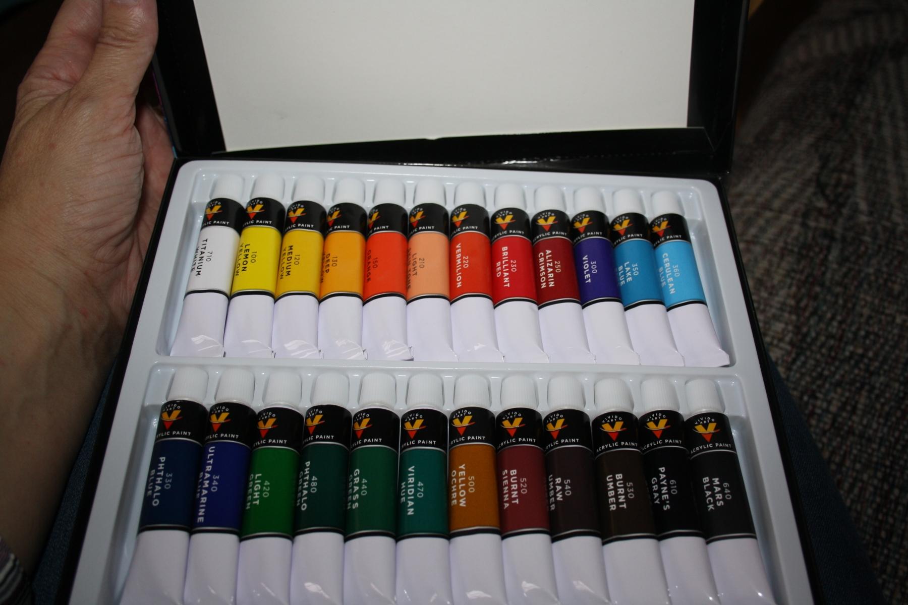 Wonderful set of acrylic paint.