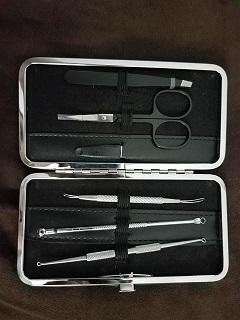 Blackhead Remover with Tweezers & Manicure Set