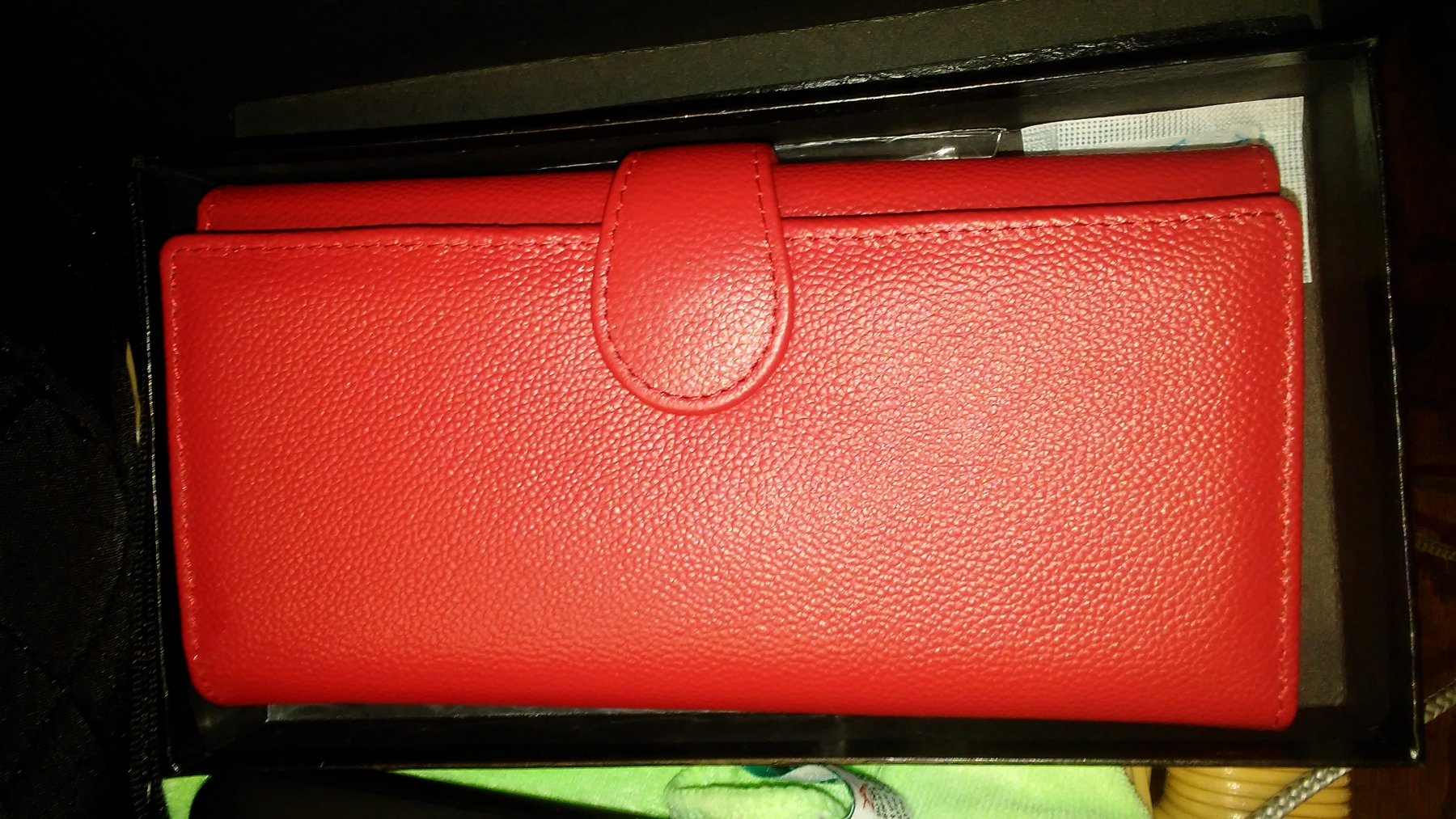 Very nice women's long trifold clutch purse