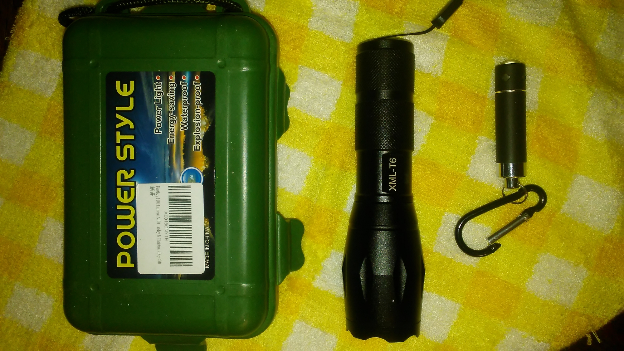 Very bight and durable flashlight