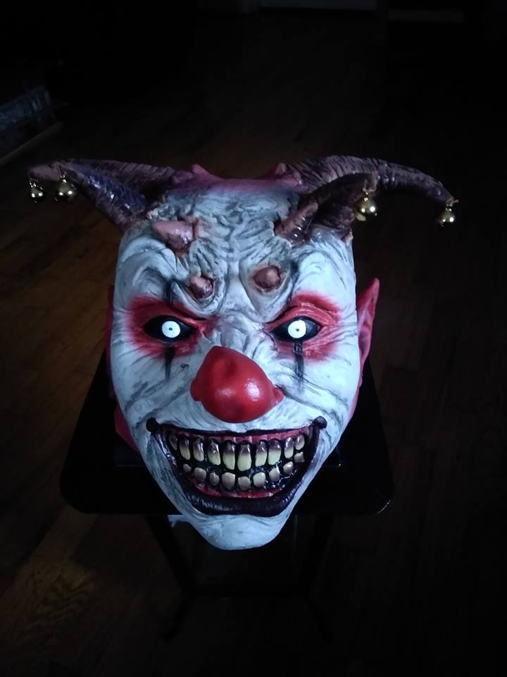Super Scary Clown Jester Halloween Mask