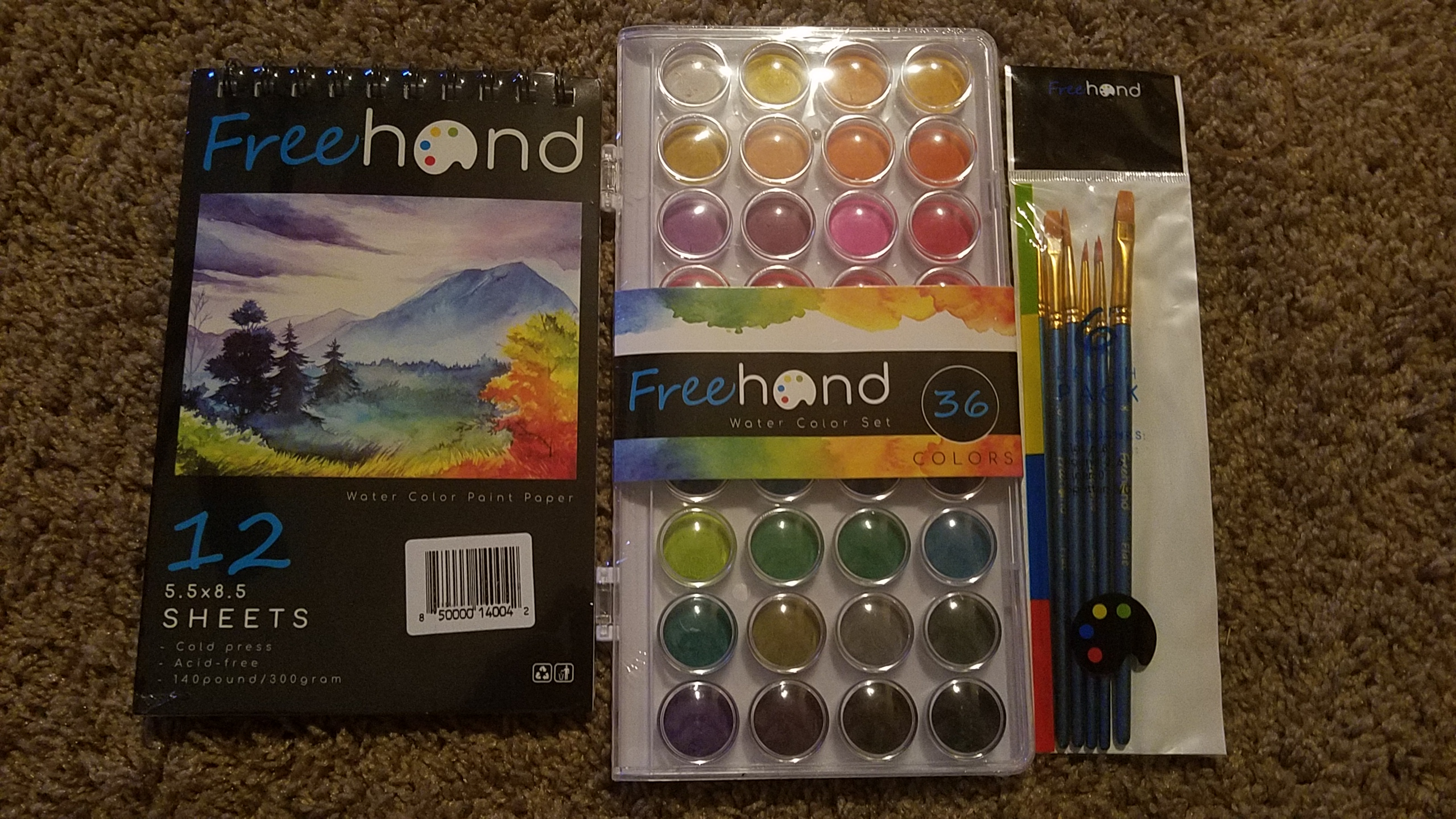 Excellent choice of water coloring set!