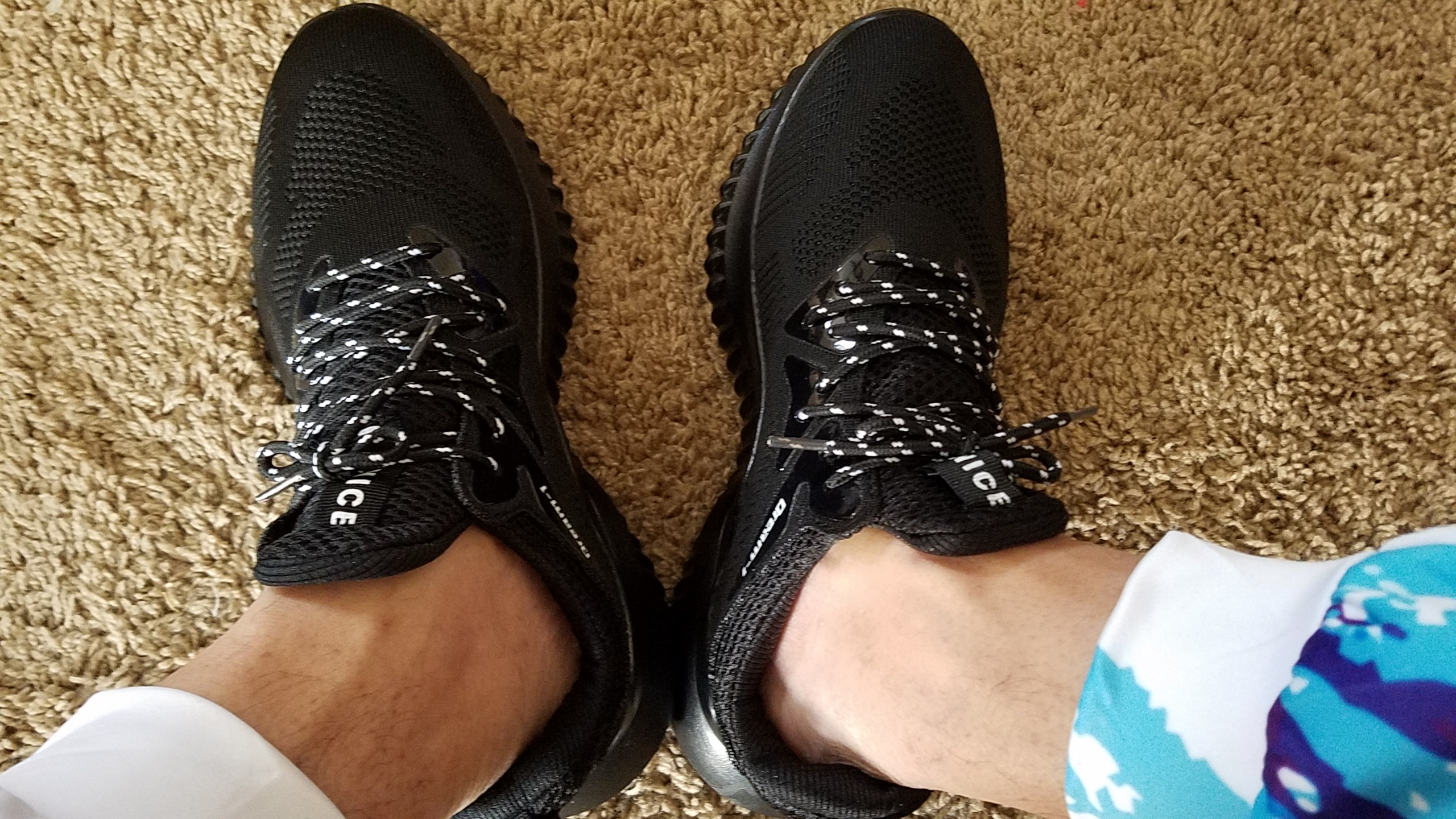 Very comfortable and light shoes, but the sole feels kind of stiff.