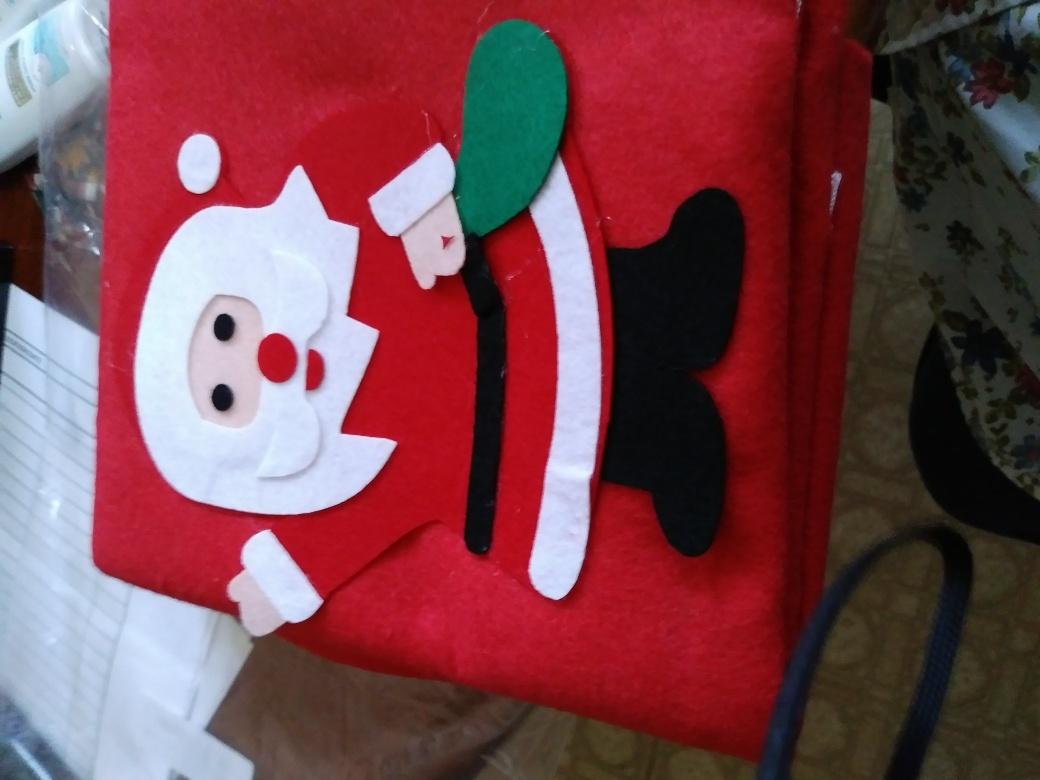 Large beautiful santa bag with drawstring closure