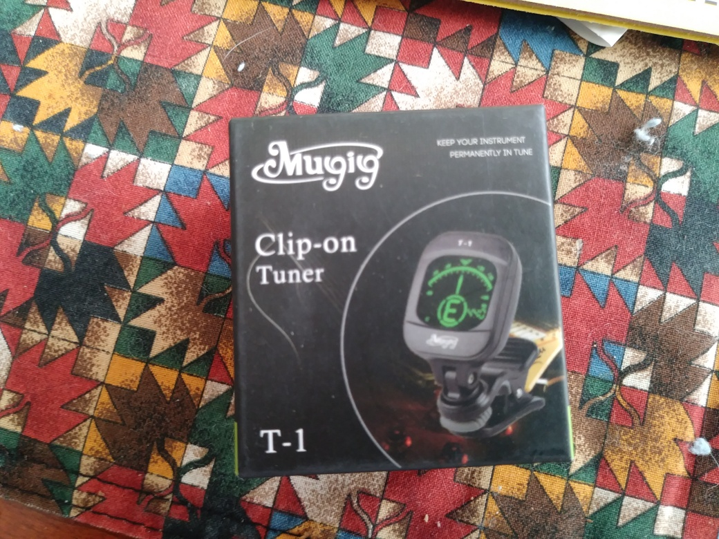 Clip on tuner perfect for my new Instrument!