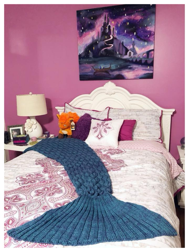 This blanket is perfect for mermaid lovers of any age!