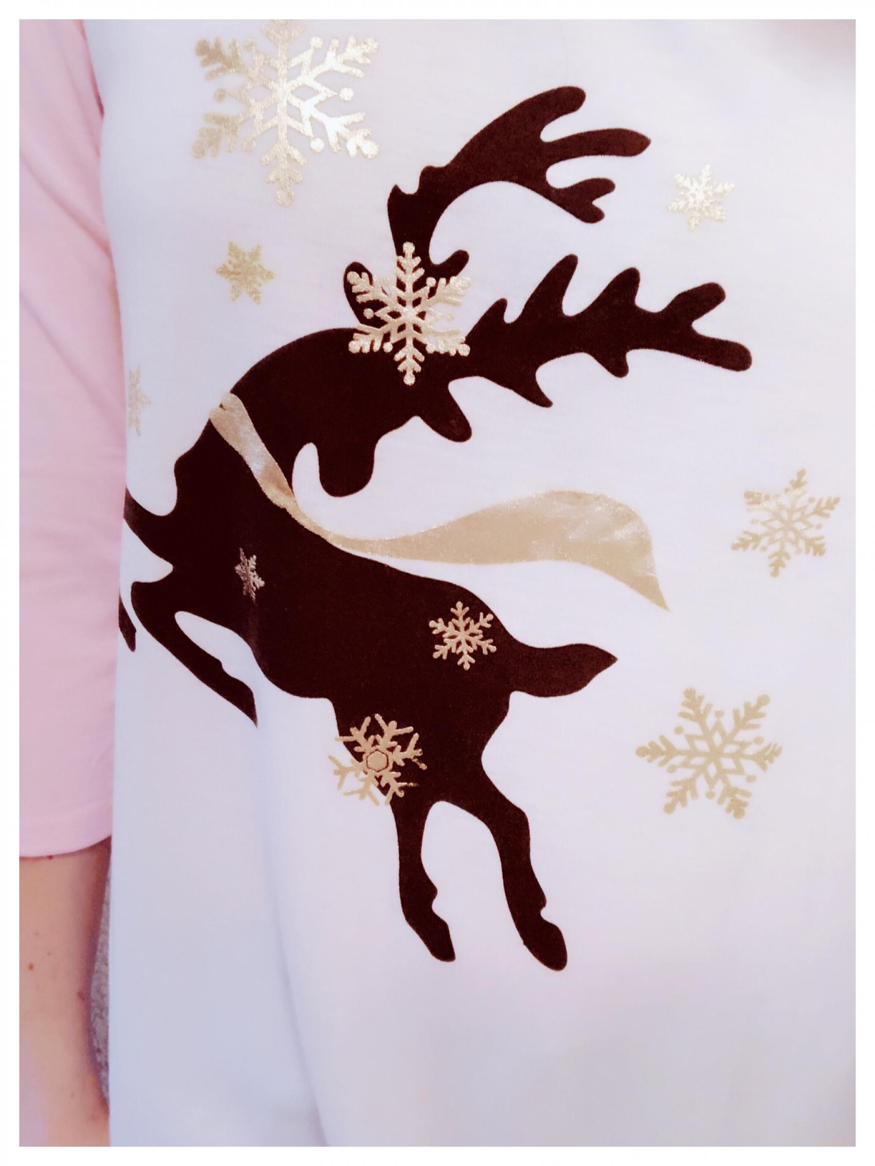 I adore this festive reindeer baseball tee!