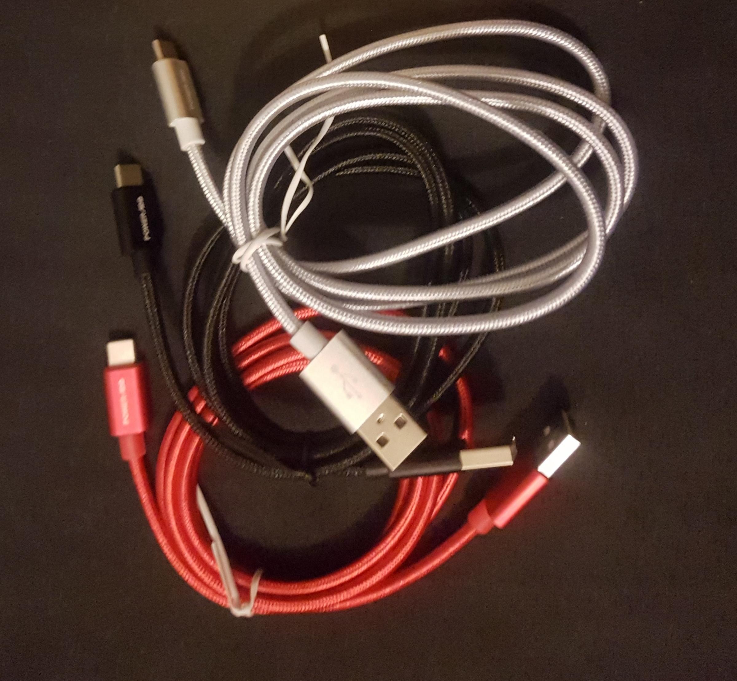 3 Câbles de Chargeur de Type-C