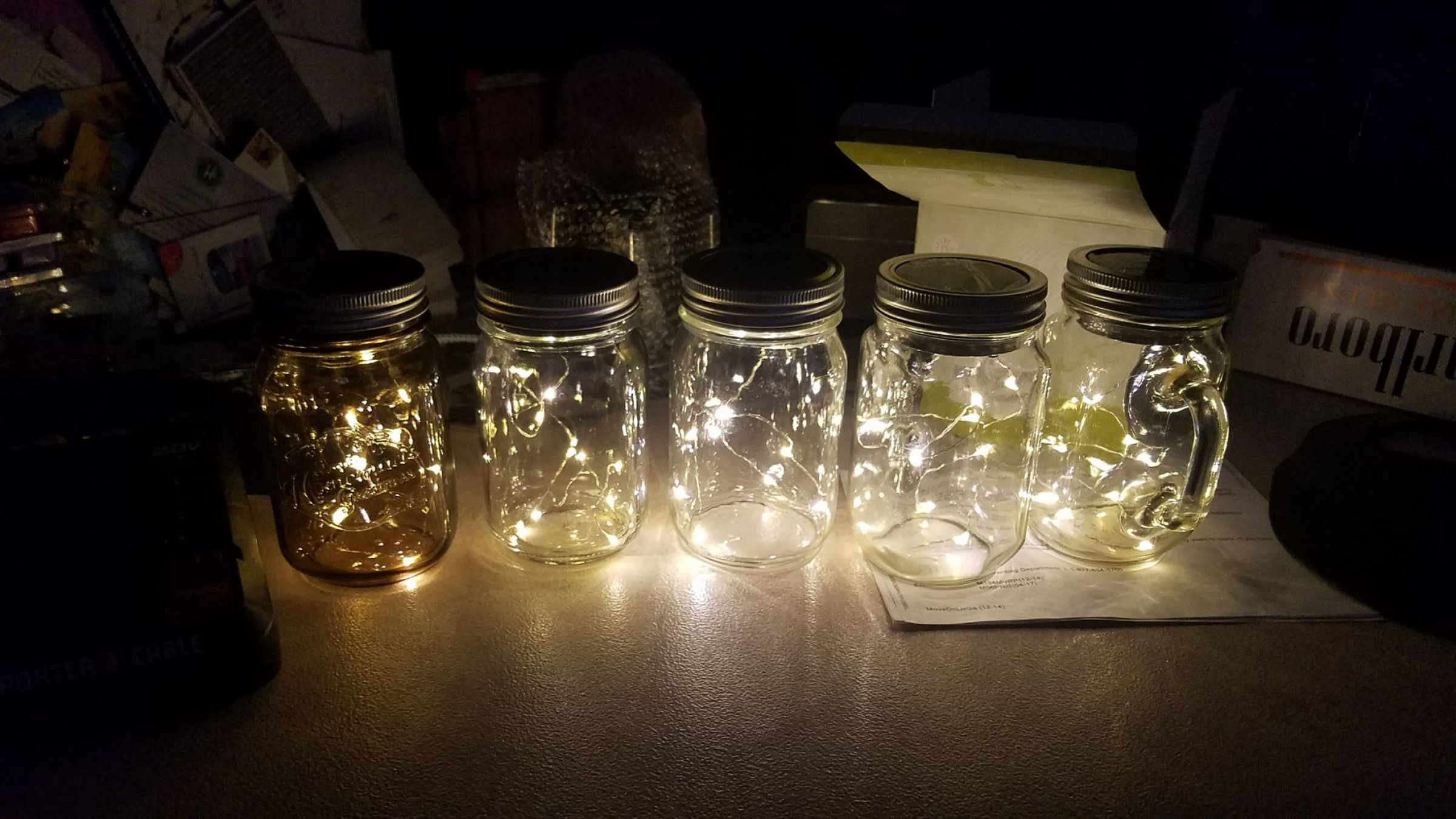 5 Pack Solar Mason Jar Lid Inset Light