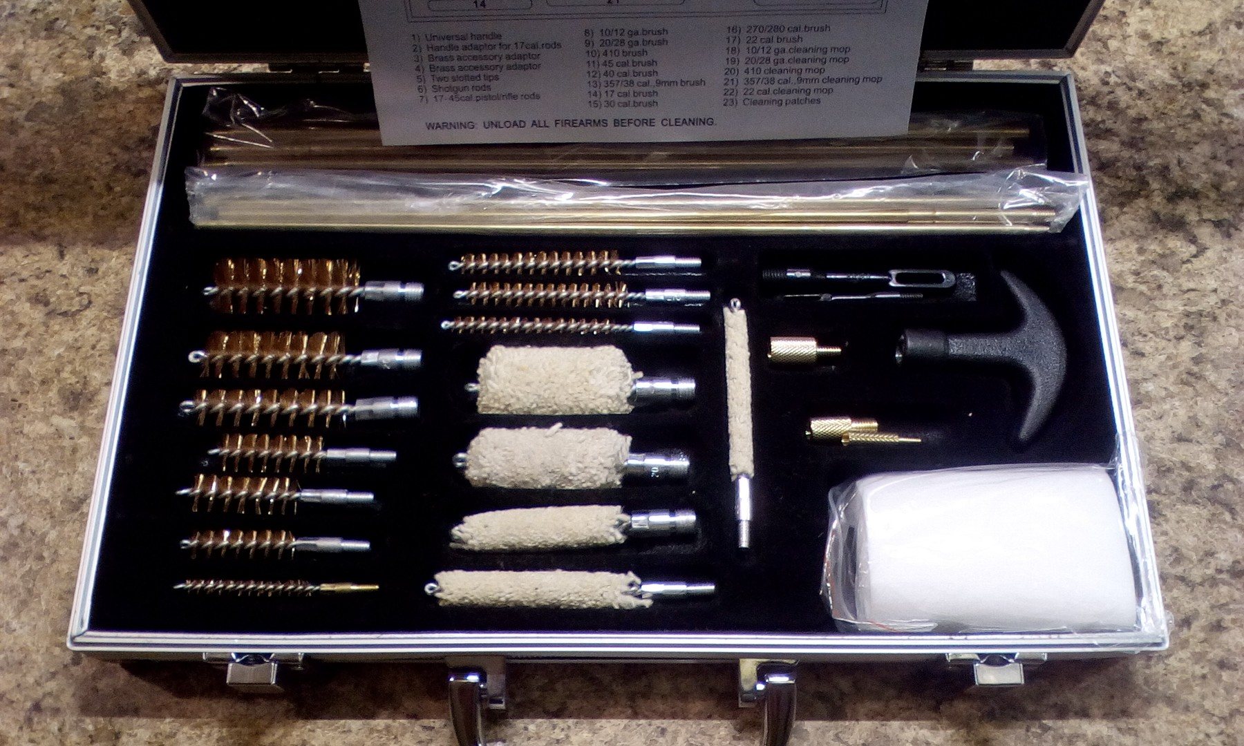 Well-made rifle/shotgun cleaning kit