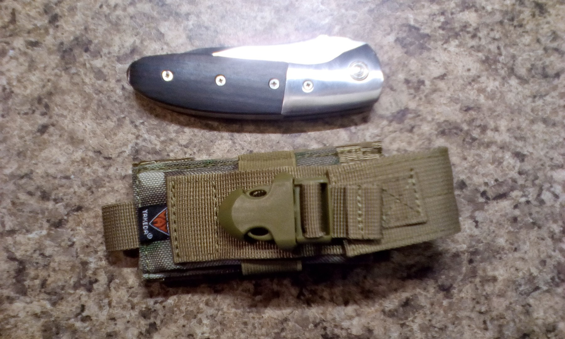 A great folding knife sheath