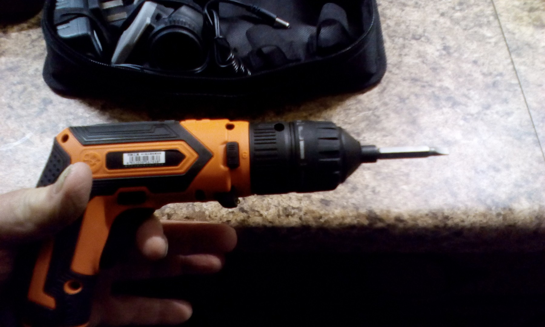 Complete cordless electric screwdriver kit