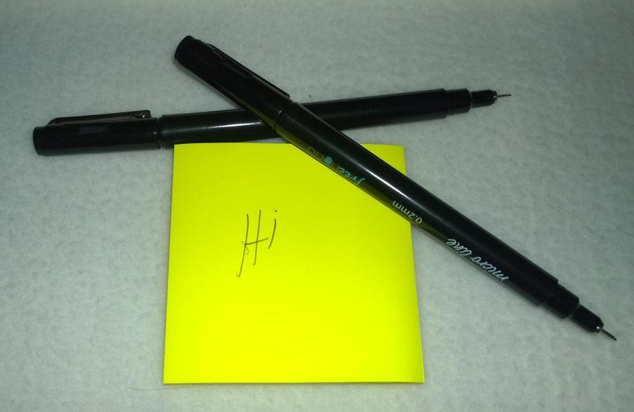 Very fine pens