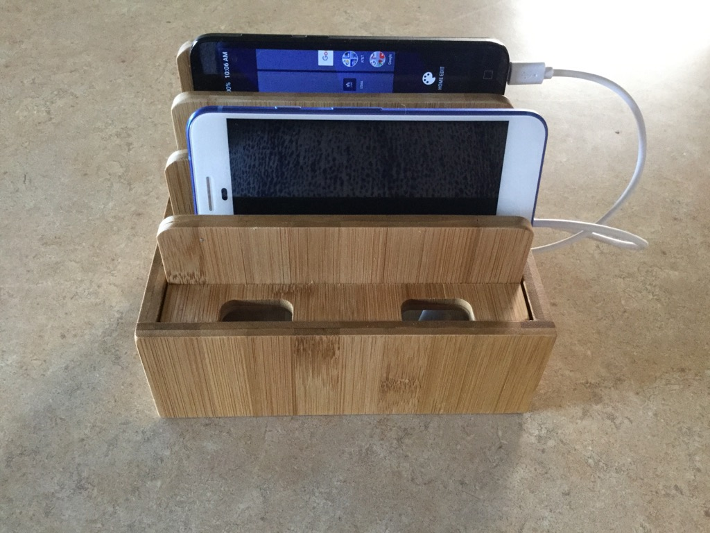 Great way to charge all your devices in the same place