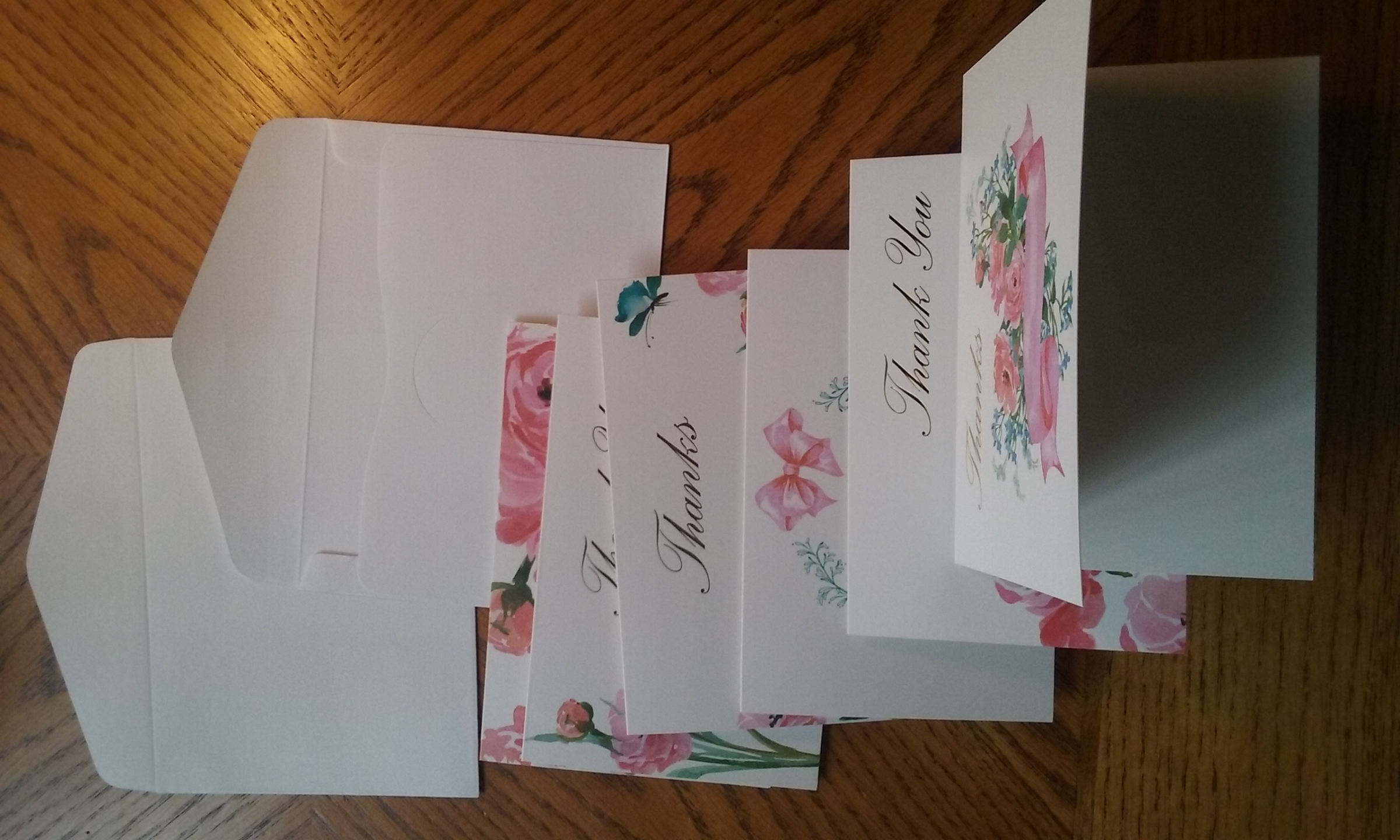 PRETTY FLORAL THANK YOU CARD PACK