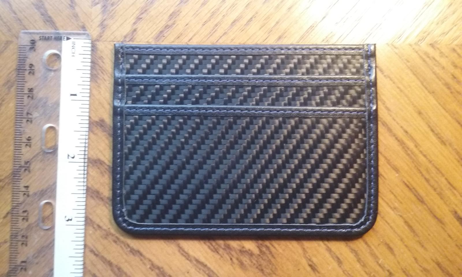 SUPER THIN CARBON FIBER WALLET WITH RFID