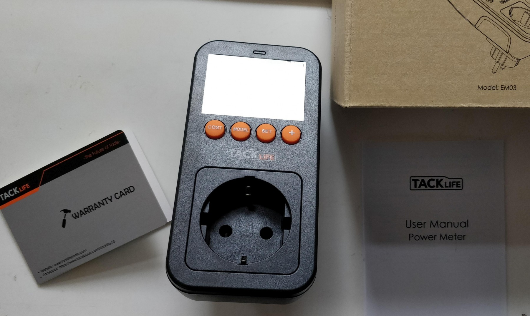 Tacklife Advanced EM03 Medidor de consumo de energía / Medidor de potencia de salida