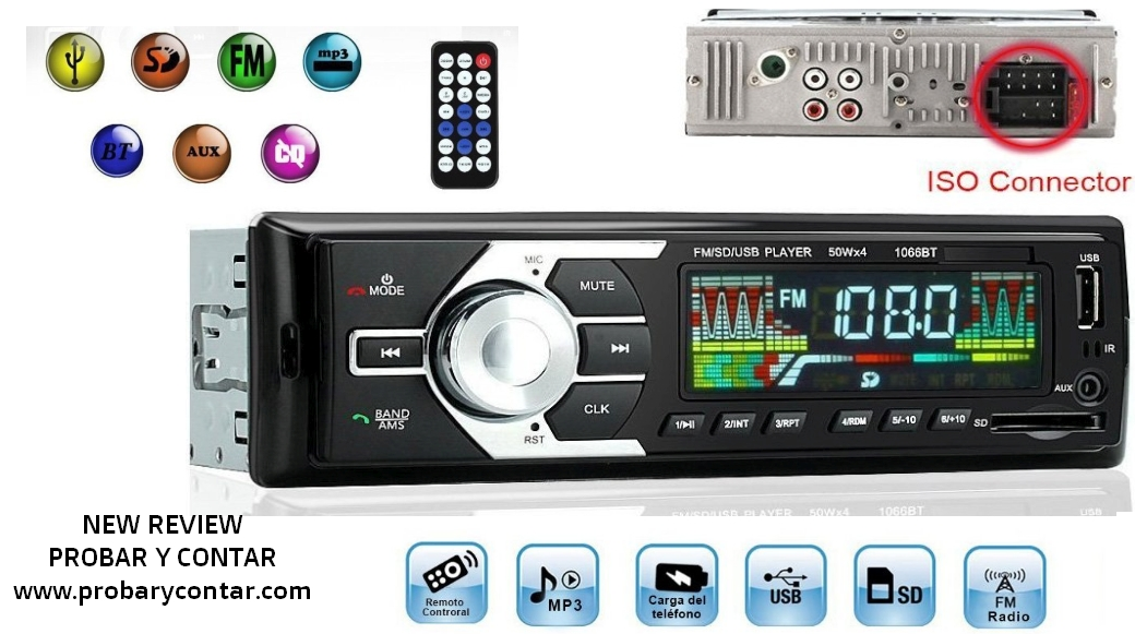 Radio de Coche USB/SD/MP3/Bluetooth KYG