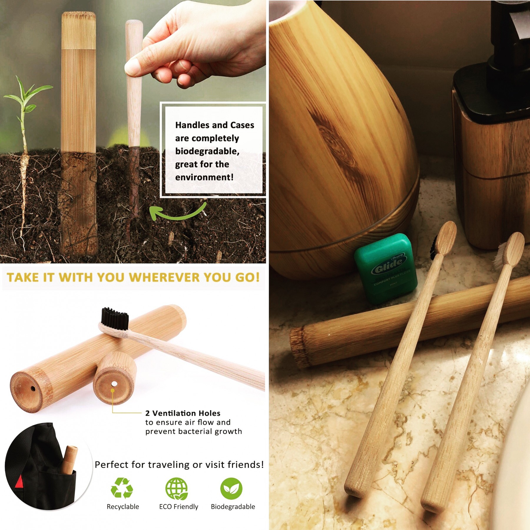 Say goodbye to plastic and go bamboo!