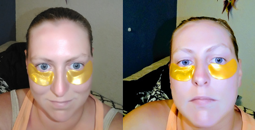 Trying out Crystal 24k Gold Collagen Eye Masks
